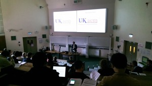 Dr Asaad Faramarzi (Conference Chair, University of Birmingham) opens the UKACM 2017