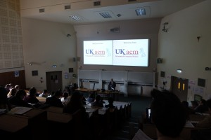 Prof Andy Schofield (University of Birmingham) welcomes participants of the UKACM 2017