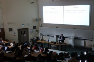 Prof Charles Augarde (Durham University) welcomes participants of the UKACM 2017